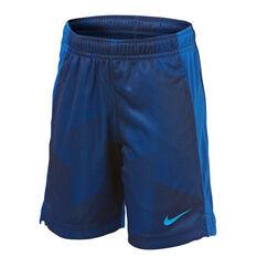 Nike Boys Dri-FIT GFX Legacy Shorts Blue 4, Blue, rebel_hi-res