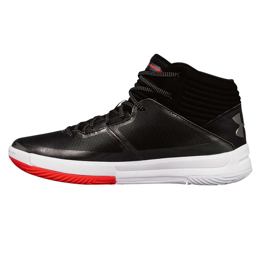 946bb9f82b758 Under Armour Lockdown 2 Mens Basketball Shoes Black   White US 15 ...