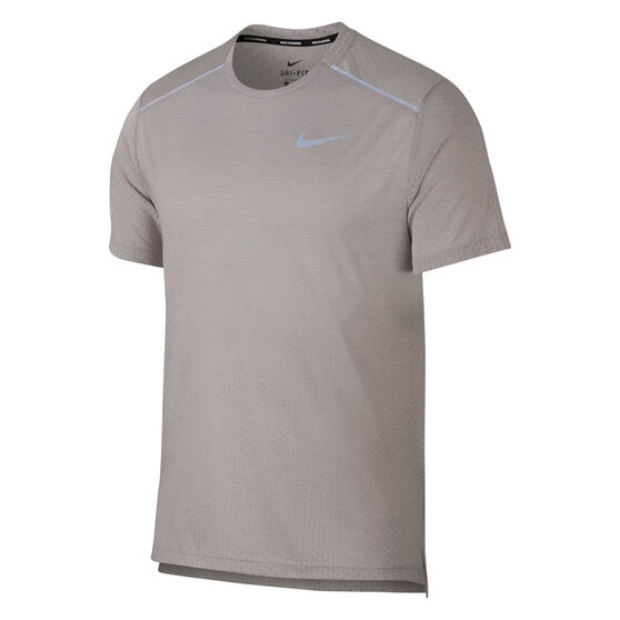 Nike Mens Breathe Rise 365 Running Tee, Grey, rebel_hi-res