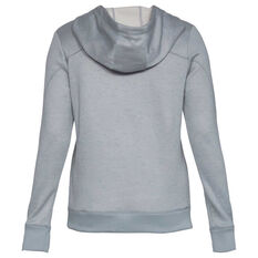 Under Armour Womens Armour Fleece Hoodie Grey XS, Grey, rebel_hi-res