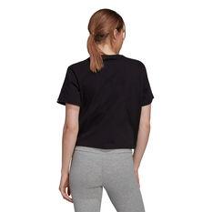 adidas Womens Flower Camo Box Graphic Tee Black XS, Black, rebel_hi-res