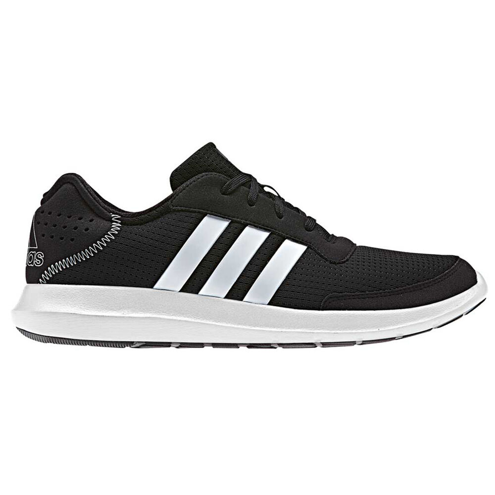 sale retailer 49ba8 a73da adidas Element Refresh Mens Running Shoes Black   White US 12, Black    White,