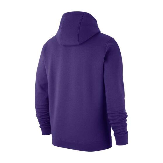 Nike Los Angeles Lakers Mens Club Logo Hoodie, Purple, rebel_hi-res