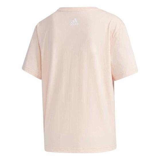 adidas Womens Big Logo Tee, Pink, rebel_hi-res