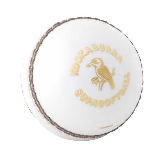 Kookaburra Kooka Softa Cricket Ball White Youth, White, rebel_hi-res