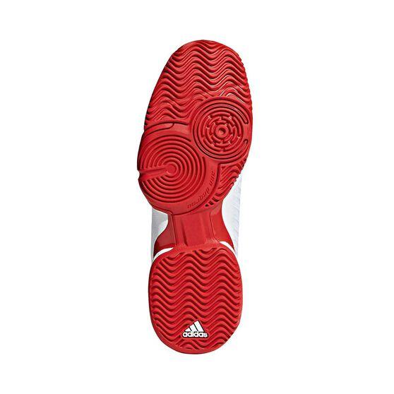 adidas Barricade 2018 Kids Tennis Shoes, Black / White, rebel_hi-res