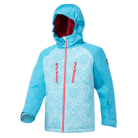 Tahwalhi Girls Crystal Ski Jacket, Blue, rebel_hi-res
