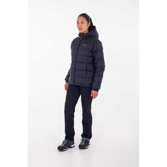 Macpac Women's Hooded Halo Down Jacket, Black, rebel_hi-res