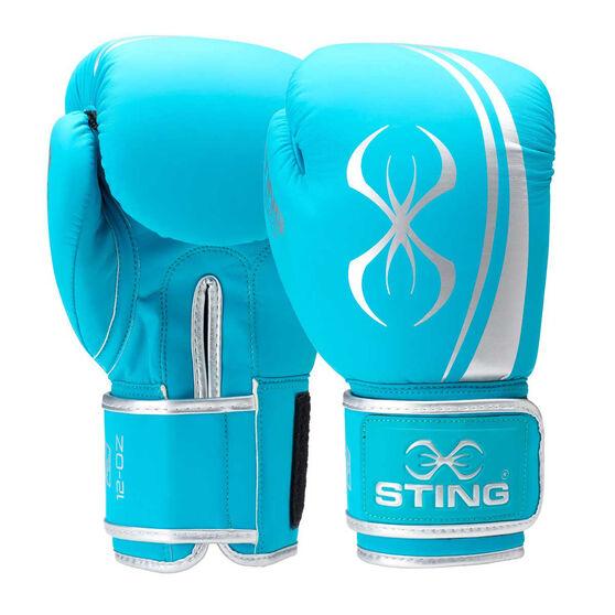 Sting Womens Aurora Boxing Gloves, Teal, rebel_hi-res