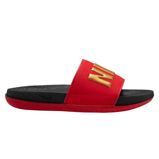 Nike Offcourt Womens Slides Black / Gold US 7, Black / Gold, rebel_hi-res