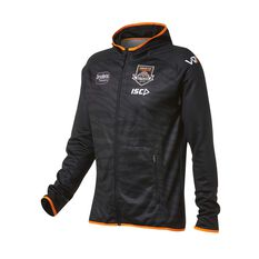 West Tigers 2019 Mens Team Hoodie Black S, Black, rebel_hi-res