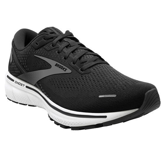 Brooks Ghost 14 Mens Running Shoes, Black/White, rebel_hi-res