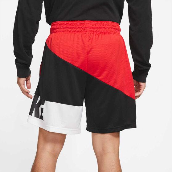 Nike Mens Dri-FIT Basketball Shorts, Red, rebel_hi-res