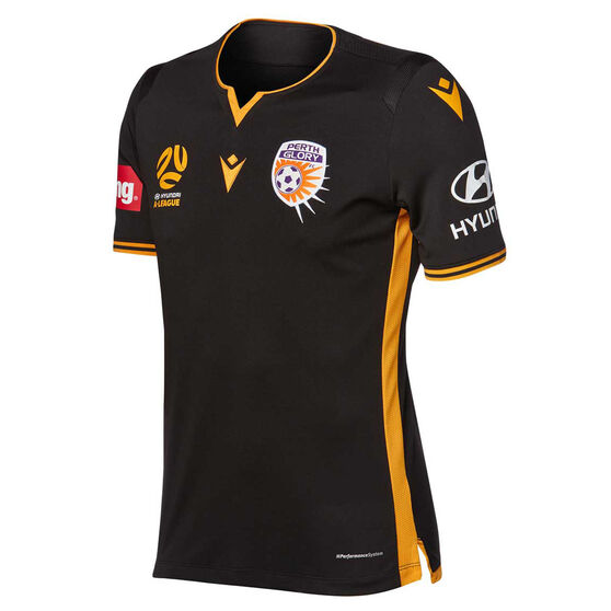 Perth Glory 2019/20 Mens Third Jersey, Black, rebel_hi-res