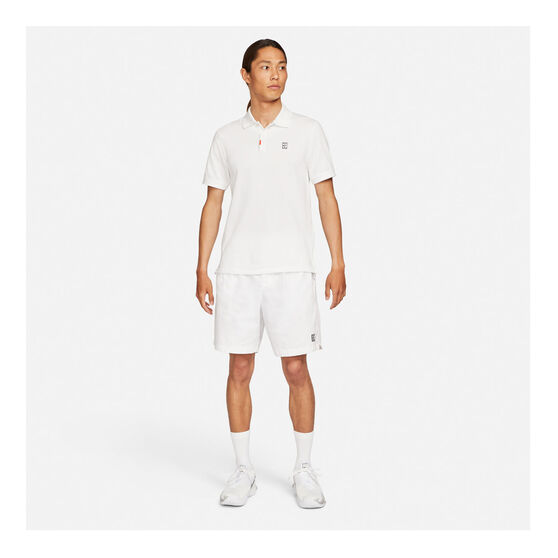 Nike Mens Slam Slim Fit Polo, White, rebel_hi-res