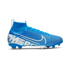 Nike Mercurial Superfly VII Elite Kids Football Boots Blue / White US 4, Blue / White, rebel_hi-res