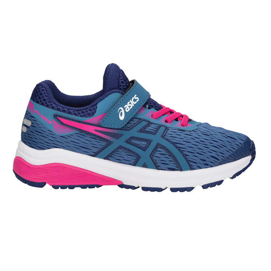 more photos fdbc7 98caf Asics GT 1000 7 Junior Girls Running Shoes Blue   Pink US 3, Blue