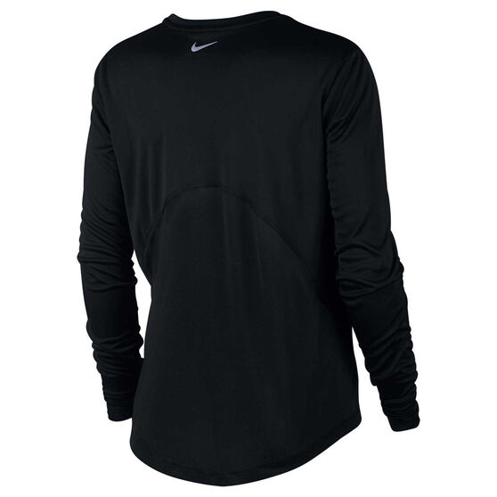 Nike Womens Miler Running Top, Black, rebel_hi-res