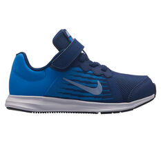 Nike Downshifter 8 Kids Running Shoes Blue / Navy US 11, Blue / Navy, rebel_hi-res