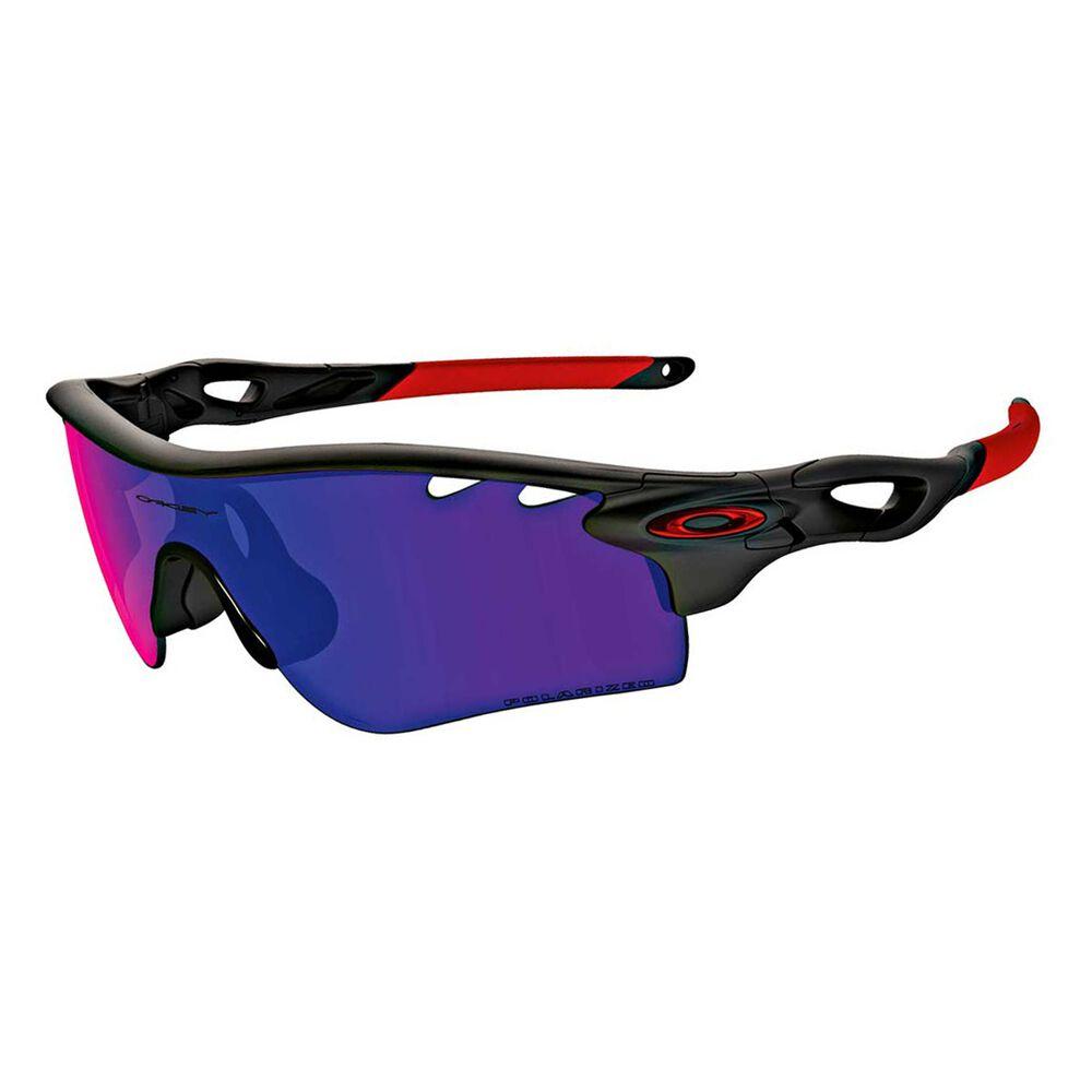 1de3badcd0 Oakley Radarlock Path Polarised Sunglasses Black / Red, , rebel_hi-res