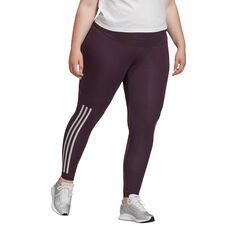 adidas Womens Glam On Tights Plus, Purple, rebel_hi-res