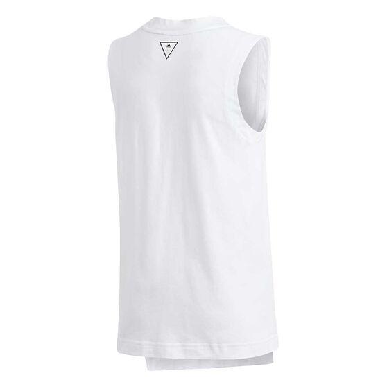 adidas Girls XFG Tank Top, White / Black, rebel_hi-res