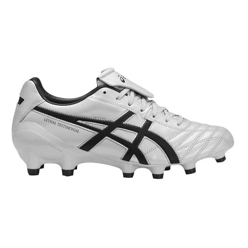6eb830621f21 Asics Lethal Testimonial 4 IT Mens Football Boots Grey   Black US 7 Adult