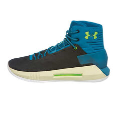 Under Armour Drive 4 Mens Basketball Shoes Black / Blue US 7, Black / Blue, rebel_hi-res