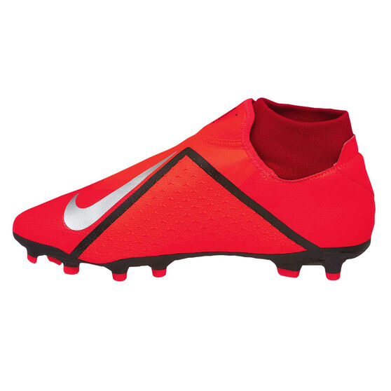 Nike Phantom Vision Academy Dynamic Fit Mens Football Boots, Red / Silver, rebel_hi-res