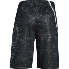 Under Armour Boys SC30 Shorts Black / White XS, Black / White, rebel_hi-res