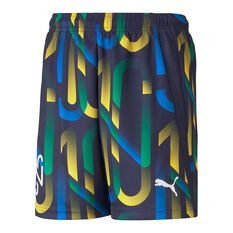 Puma Boys Neymar Jr Future Printed Football Shorts, Blue, rebel_hi-res