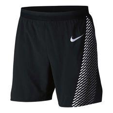 Nike Mens Sphere Flex Stride Running Shorts Black S Adult, Black, rebel_hi-res