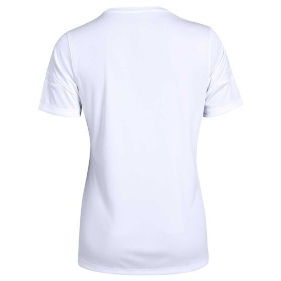 Under Armour Womens Golazo 2.0 Soccer Tee, White, rebel_hi-res