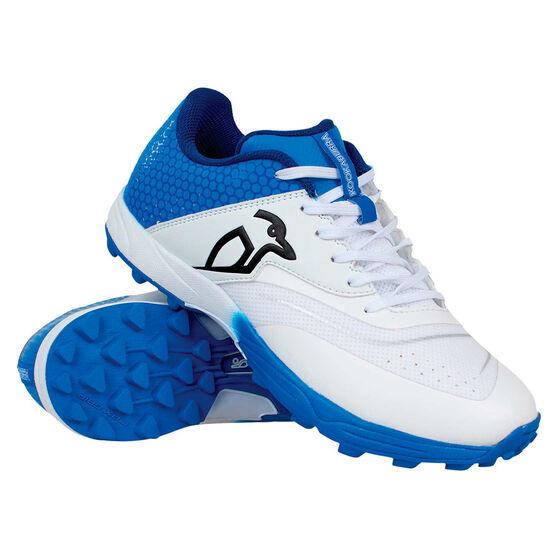 Kookaburra Pro 2.0 Kids Rubber Cricket Shoes, White/Blue, rebel_hi-res