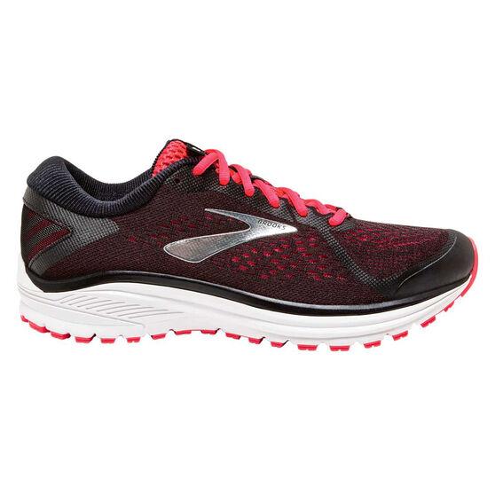 Brooks Aduro 6 Womens Running Shoes, Black / Pink, rebel_hi-res