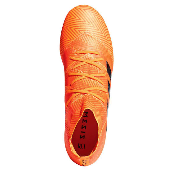 adidas Nemeziz 18.1 Mens Football Boots Orange / Black US 13, Orange / Black, rebel_hi-res