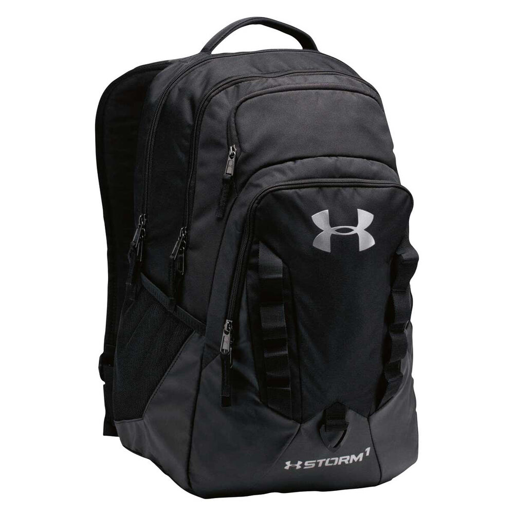 a4743c4741 Under Armour Storm Recruit Backpack Black Steel