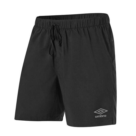 Umbro Mens 2in1 7in Training Shorts, Black, rebel_hi-res