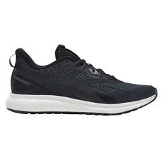 Reebok Forever Floatride Mens Running Shoes Black/Green US 8.5, Black/Green, rebel_hi-res