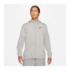 Nike Mens Dri-FIT Full-Zip Training Hoodie Grey S, Grey, rebel_hi-res