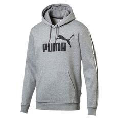 Puma Mens Tape Hoodie Grey S, Grey, rebel_hi-res