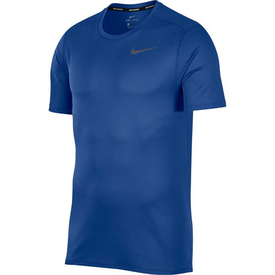 Nike Breathe Mens Running Top Dark Indigo S, Dark Indigo, rebel_hi-res