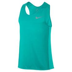 Nike Mens Miler Running Tank Green S, Green, rebel_hi-res