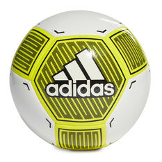 adidas Starlancer VI Soccer Ball White / Yellow 3, White / Yellow, rebel_hi-res
