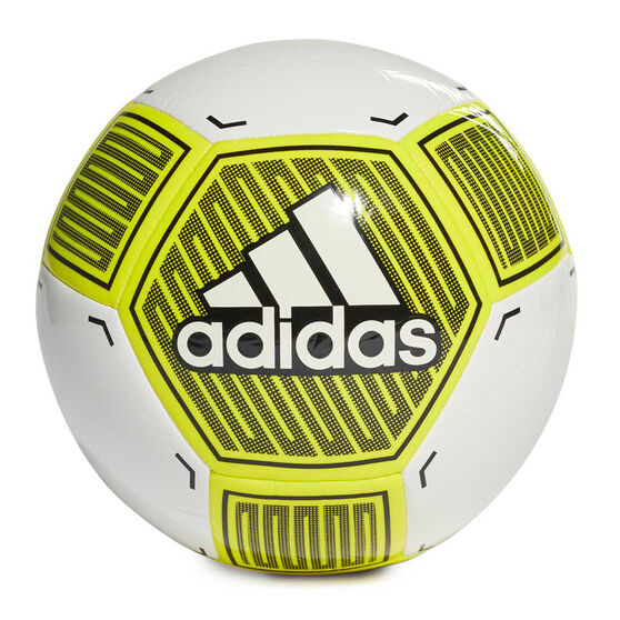 adidas Starlancer VI Soccer Ball, White / Yellow, rebel_hi-res