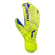 Reusch Pure Contact Fusion Goalkeeping Gloves Yellow 8, Yellow, rebel_hi-res