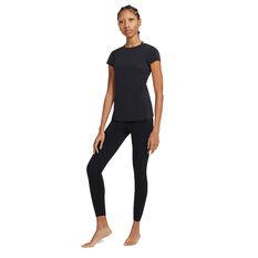 Nike Womens Yoga Luxe Tee, Black, rebel_hi-res