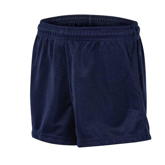 Burley Sekem Boys Pull On Baggy Shorts, Navy Blue, rebel_hi-res
