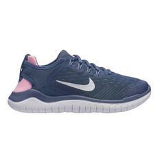 Nike Free RN 2018 Girls Running Shoes Blue / Pink US 4, Blue / Pink, rebel_hi-res