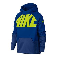 Nike Boys Therma Training Hoodie Royal / Yellow XS, Royal / Yellow, rebel_hi-res